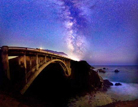 Big Sur and the Milky Way, photo Daniel Peckham https://www.flickr.com/photos/davaodude/